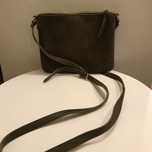 Old navy crossbody bag suede & olive colored